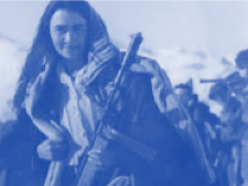 Photo of woman in war